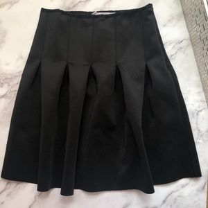 BCBGeneration Black pleaded skirt